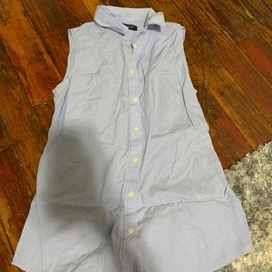 Fitted, button up tank top